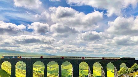 Arten Gilll viaduct on the Settle--Carlisle - one of the most scenic journeys in the country which you can enjoy on the...
