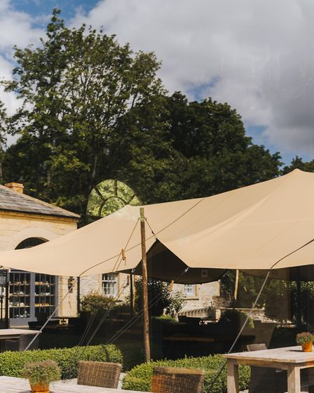 Middleton Lodge's covered courtyard - the restaurant near Richmond will be taking part in Teesside Restaurant Week eith...