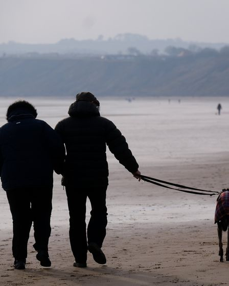 Filey beach - miles of sands for the dogs