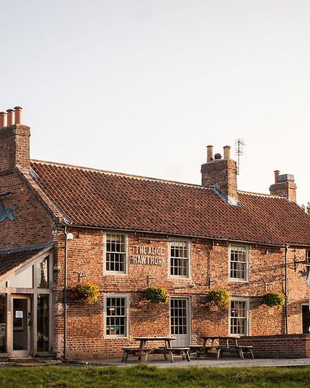 The stylish inn overlooks the pretty village green in Nun Monkton