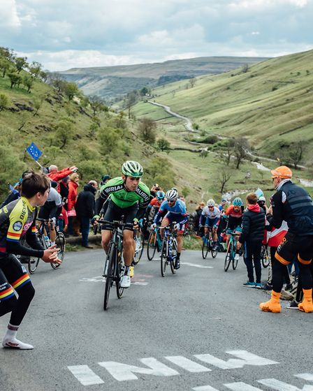Hills, crowds and atmosphere in stage 4 of the Tour de Yorkshire from Halifax to Leeds. Yorkshie's love and passion for...