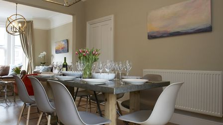 The dining room - perfect for six at the moment!