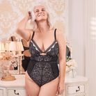 Body positive: Rachel loves modelling lingerie - this is her in the Figleaves Valentines 2020 campaign