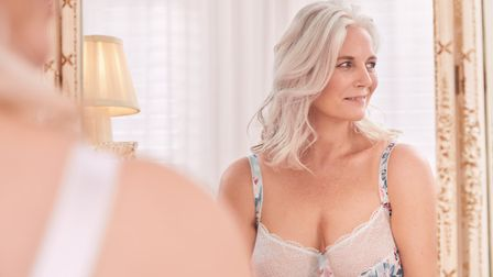 Rachel in a lingerie shoot with for Figleaves Valentines 2020 campaign