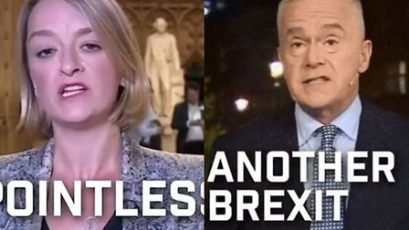 The edited footage of BBC News appeared in Tory Facebook adverts. Photograph: Tories/Facebook.