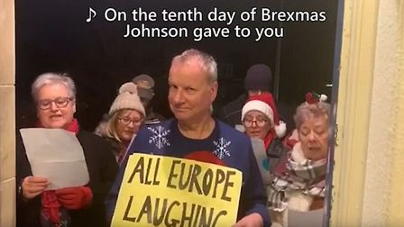"""The twelve days of Brexmas, released by SNP candidate Peter Wishart, is being called """"the internet s"""