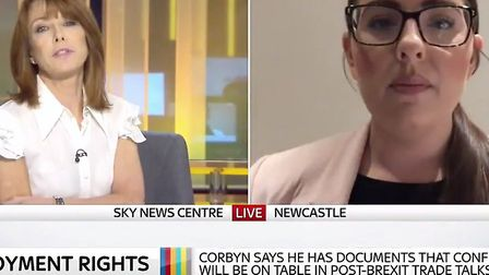 The shadow employment rights secretary Laura Pidcock and Kay Burley clashed over the source of docum