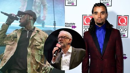 Stormzy and Akala among ten musicians who sign letter endorsing Jeremy Corbyn. Photos: PA