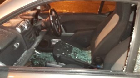 Shopkeeper Mustapha Maazouz was shocked to find his Smart Fortwo had been smashed up on Golding Plac