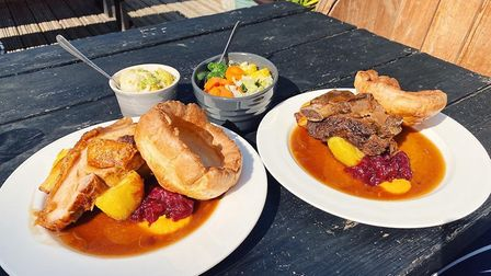 Roasts from Too Fat Roasties at The Reindeer, one of the places you can get a great Sunday lunch in