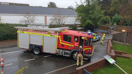 Fire crews have now arrived at the scene of a murder investigation on Bacton Road in North Walsham.
