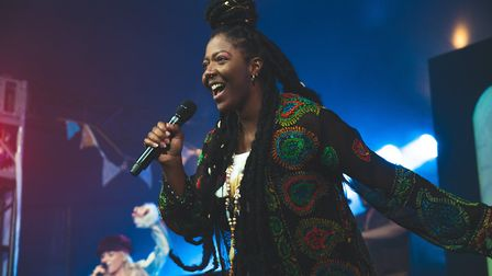 T'Shan Williams stars in Hair the Musical which is currently being performed at UEA. Picture: Max Hi