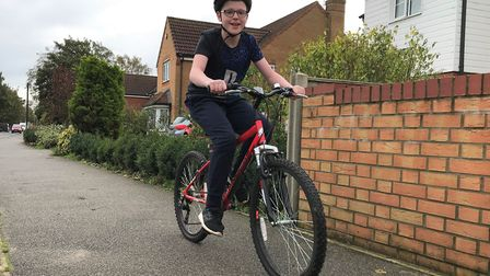 Keiran Dickerson is cycling 60 miles to raise money for charities which helped him during his cancer