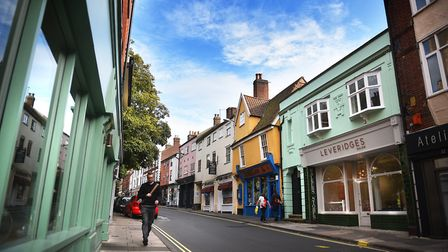St Benedict's Street in Norwich is full of colourful buildings. Picture: ANTONY KELLY