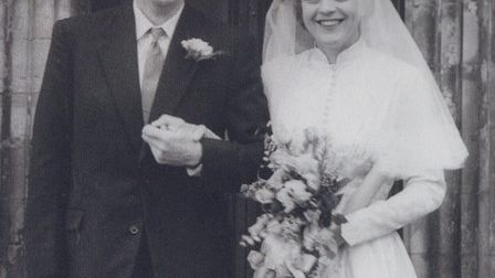 John and Esther Wellings on their wedding day in 1958. Picture: Supplied by the family