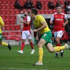 Jordan Hugill opened his Norwich City account with a stoppage time winner against Rotherham United.