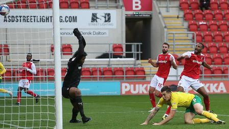 Michael Ihiekwe's own goal got the Canaries back into the game. Picture: Paul Chesterton/Focus Imag