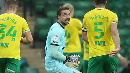 City number one Tim Krul got involved in the celebrations again, as Mario Vrancic scored a late winn