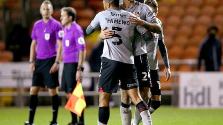 Akin Famewo is building a decent relationship with Ryan Inniss at the heart of Charlton's defence. P