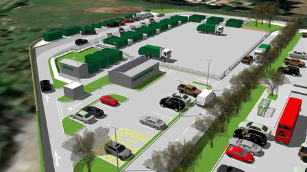 How the £1.9m new Norwich South recycling centre next to Harford park-and-ride could look. Picture: