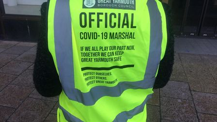 Covid marshalls in Great Yarmouth have been visiting busiinesses and reminding people of the rules a