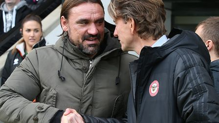 Norwich City boss Daniel Farke is a big fan of Thomas Frank's work at Brentford Picture: Paul Cheste