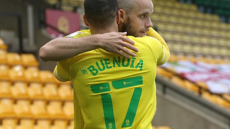 Emi Buendia set up Teemu Pukki's early goal during the Canaries' win over Wycombe Picture: Paul Ches