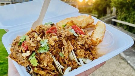Tacos and halloumi fries from Harry's Soul Train street food van Picture: Contributed