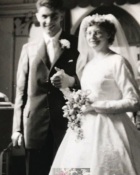 Margaret and John Bullen pictured together on their wedding day in 1960. PHOTO: Submitted