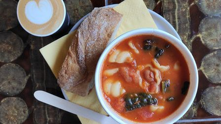 The coffee shop is offering soup as part of its winter menu. PHOTO: Nate Leveritt