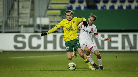 Todd Cantwell in loan action for Fortuna Sittard - a spell which has paid dividends Picture: Ivo Del