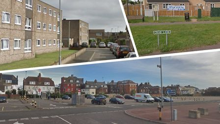 Affordable housing in Great Yarmouth. (Left to right: Great Northern Close, Crab Lane and Beach Coac