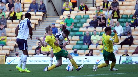 A thousands social distanced fans at Carrow Road as Norwich City play Preston North End. Picture: Pa