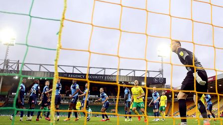 Back of the net... Mario Vrancic's free-kick winner against Wycombe was a thing of beauty Picture: P