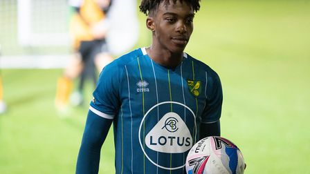 Tyrese Omotoye was on target for Norwich City U23s against Middlesbrough Picture: Focus Images Ltd