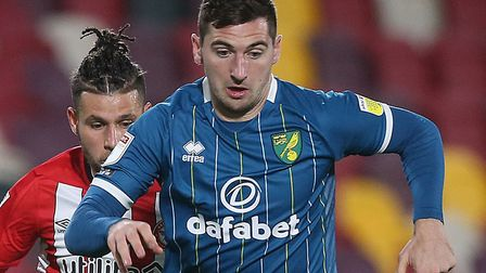 Kenny McLean came off the bench and scored a late equaliser for Norwich at Brentford Picture: Paul