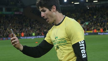 Timm Klose has thanked Norwich City fans for their support as he departs for FC Basel. Picture: Pau