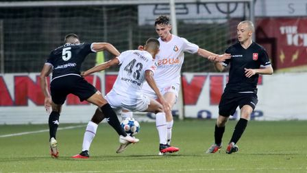 Adshead set up Soto to give Telstar the lead against FC Oss on Saturday. Picture: Pieter Hoogeveen/1