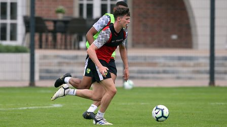 Dan Adshead of Norwich City U23s during Norwich City U23 training at Hotel-Residence Klosterpforte,