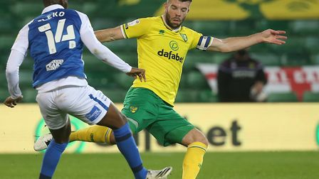 Norwich captain Grant Hanley made his first Carrow Road appearance of the season as City beat Birmin