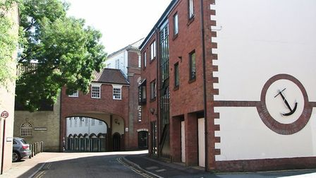 Anchor Quay in Norwich city centre where one of the burglaries took place. Picture: Evelyn Simak/Geo