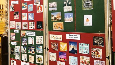 All the cards on offer are on the wall so people can see the full range Picture: Louisa Baldwin