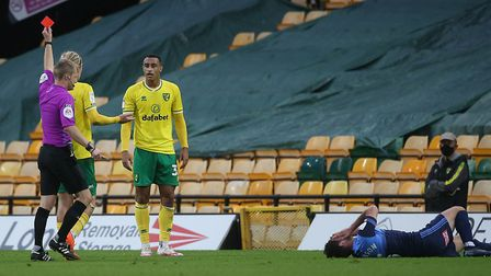 Adam Idah saw red late on. Picture: Paul Chesterton/Focus Images Ltd