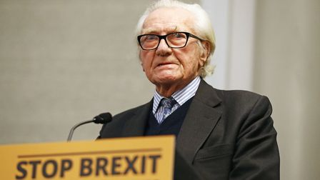 Lord Heseltine delivers a speech on Brexit and the electiom. Photograph: Aaron Chown/PA Wire