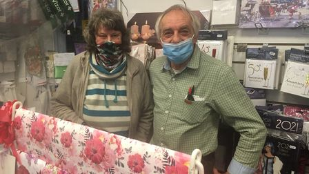 Primrose and Richard Burton of Sentiments in Great Yarmouth. The shop had a busy morning as people t