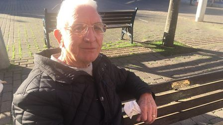 David Stone from Great Yarmouth was in the town centre on Monday doing some last minute shopping wit
