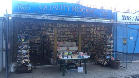 Quality Books on Great Yarmouth's Market has seen a flurry of sales with people stocking up on readi