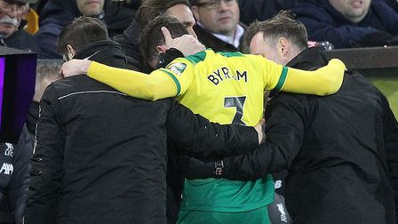 Norwich City defender Sam Byram has undergone two hamstring operations since an early exit againt Pr