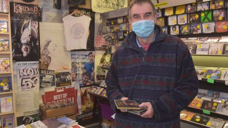 Gorleston Shop Local campaign. Roger Webster owner of Music Lovers. Pictures: BRITTANY WOODMAN