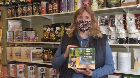 Gorleston Shop Local campaign. Sylken Home Brew, Teresa Knights, Owner. Pictures: BRITTANY WOODMAN
